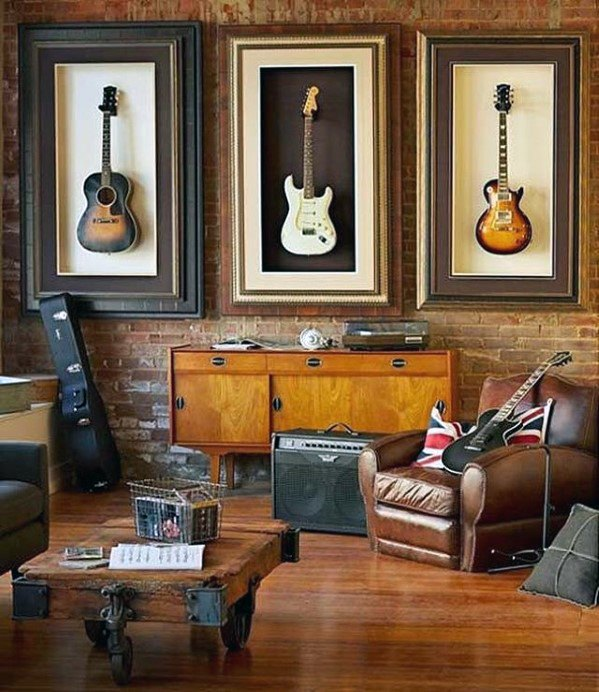 guitar-themed-awesome-man-caves-for-men