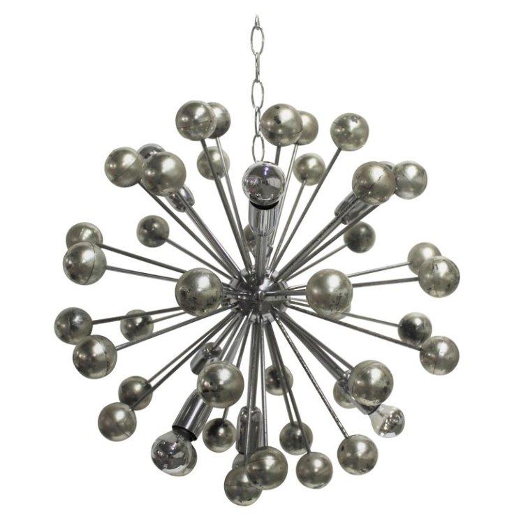 Sputnik csillár krómból